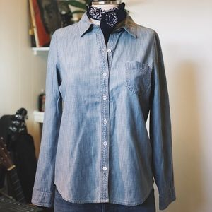 OLD NAVY | Chambray Button Up Shirt